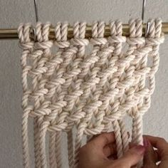 How to Tie Half Knot Treasure Mesh // This video shows you how to tie Half Knot Treasure Mesh; which is easy to do and it creates a high impact for wall hangings and other items. For the sake of time, I had already tied the first 6 rows of knots, and I'll explain how to do that below. // This video shows them done with  8 1/4th inch cords which were attached to the bar using the Larks Head Knot. Since the cords were folded in half and attached, there are now 16 cords. // HALF SQUARE KNOT…