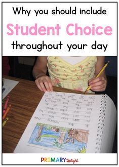 Student choice in the classroom empowers and motivates students. Use the easy suggestions to add more student choice to your day. Teaching Schools, Elementary Teaching, Teacher Education, Teaching Tips, Classroom Routines And Procedures, Classroom Ideas, School Fun, School Ideas, Student Centered Learning