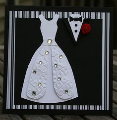 Wedding. Link included for dress template http://paperperfectdesigns.blogspot.com/2011/10/to-bride-and-groom.html