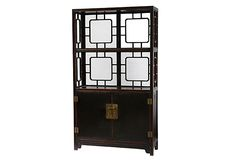 Peking Display Shelf, Distressed Black on OneKingsLane.com
