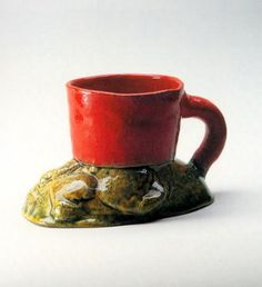 "by Ken Price  Oyster Bay Rock Cup, 1967  Glazed Ceramic  2.8"" h  Private Collection"