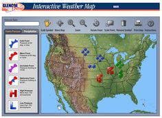 The Techie Teacher: Interactive Weather Map Weather Unit, Weather And Climate, Weather Report, Weather Forecast, Science Classroom, Teaching Science, Science Geek, Physical Science, Science Experiments