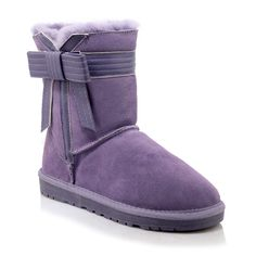 (48.22$)  Watch more here  - Butterfly-knot women boots Sweet style warm winter boots high quality Genuine leather Ankle boots Slip-On Round Toe Snow Boots
