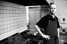Environmental portrait of a chef