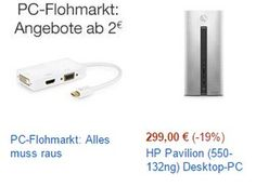 """Amazon: PC-Flohmarkt mit hunderten Artikel für je zwei Euro http://www.discountfan.de/artikel/technik_und_haushalt/amazon-pc-flohmarkt-mit-hunderten-artikel-fuer-je-zwei-euro.php Noch bis zum 16. Januar sind bei Amazon im Rahmen eines """"PC-Flohmarkt"""" Artikel rund um den Computer zu Schnäppchenpreisen ab zwei Euro zu haben. Amazon: PC-Flohmarkt mit hunderten Artikel für je zwei Euro (Bild: Amazon.de) Der PC-Flohmarkt von Amazon läuft noch bis Samstag nächster"""