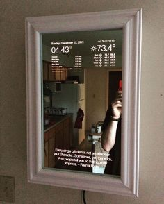 """I think I know someone who could use one of these  #MagicMirror"""