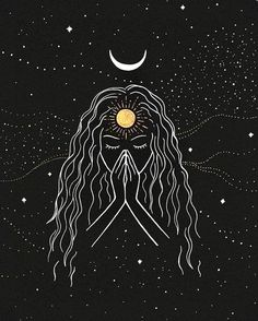Namaste [Original] is part of Realistic drawings Tutorial Art Lessons - This is my original drawing on black paper with metallic pens only one available! Please feel free to send me a message if you have any questions! Geometric Tatto, Illustration Art, Illustrations, Diy Tattoo, Tattoo Ideas, Moon Art, Psychedelic Art, Mini Tattoos, Aesthetic Art