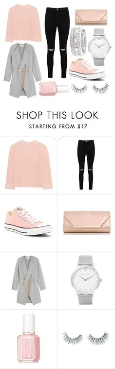 """Look)3 st Valentin"" by isaline-de-soie on Polyvore featuring mode, iHeart, Boohoo, Converse, Dorothy Perkins, Vanessa Bruno, Larsson & Jennings, Essie, Unicorn Lashes et Sole Society"
