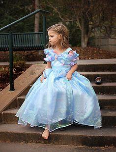 Mädchen Kleid Blumen Organza Sommer Blau 2890201 2016 – €14.69