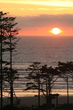 Seabrook sunset.  Washington coast.