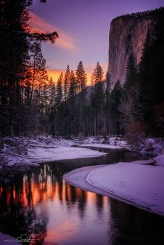 El Capitan in Yosemite National Park in California ~ By Shumon Saito.