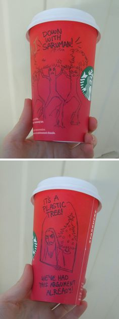 Lord of the Rings Starbucks cups