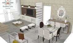 Construindo Minha Casa Clean: Consultoria de Decoração: Salas Pequenas de um Lindo Apê com 3D!