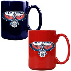 Atlanta Hawks 15oz. Coffee Mug Set - Navy/Red - $29.99