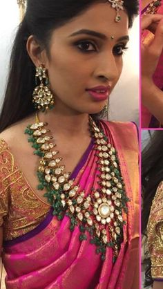 Pinterest • @KrutiChevli Bridal Jewellery, Gold Jewellery, Polki Sets, Gold Designs, Baby Jewelry, Jewelry Design Earrings, India Beauty, Moissanite, Indian Jewelry