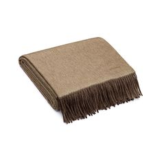 """Double Face  Hermes blanket in brown/beige, double-sided cashmere (59"""" x 79"""")"""