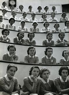 student nurses in the amphitheater, roosevelt hospital, new york city, 1938 • alfred eisenstaedt