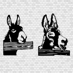 Donkey Drawing, Christmas Donkey, Stamp Carving, Silhouette Clip Art, Scroll Saw, Svg File, Farm Animals, Laser Cutting, Shirt Ideas