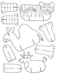 folding paper zoo « Preschool and Homeschool Paper Animals, Zoo Animals, Cardboard Animals, Easy Animals, Sunday School Crafts, School Fun, Paper Toys, Paper Crafts, Art For Kids