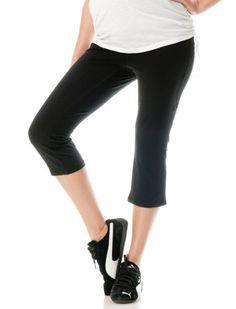 Motherhood Maternity: Secret Fit Belly(tm) Jersey Knit Cropped Straight Leg Maternity Yoga Pants $22.98