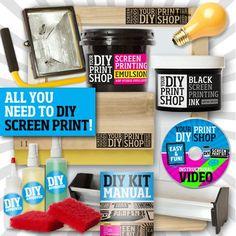 Fancy - DIY Print Shop T-Shirt Screen Printing Kit