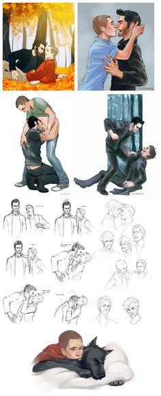 OH! Oh, the ear scratches!  Teen wolf dump by MisterKay.deviantart.com @deviantART