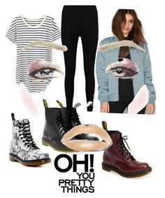 """""""Everyday look"""" by jesca27 on Polyvore featuring Splendid, Dr. Denim, Dr. Martens and Boohoo"""