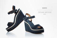 Denim Wedge, Joe Fresh - I love these...