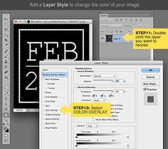 Digital scrapbook tutorial recolor step1
