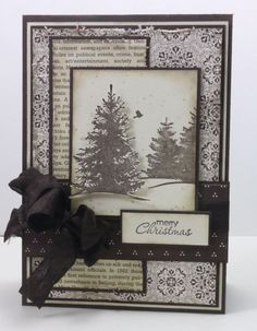By Narelle Farrugia #stampinup #christmascard Could vary this to make birthday or sympathy cards