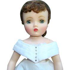Madame Alexander Renoir Cissy Doll in 1950s Vintage White Silk Taffeta Wedding…