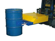 Drum Handling Dollies, Handlers & Lifting Equipment - Material Handling Equipment Product Information - Electric Hydraulic Forklift Drum Caddy, Grippers & Lifters. Fork Attachment