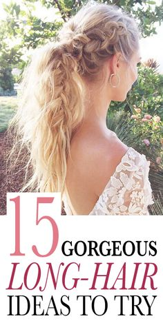 15 Gorgeous Long-Hair Ideas to Try Now:  It's easy to get stuck in a hairstyle rut, even when you have lots of length to work with. That's undoubtedly why the humble, last-resort ponytail has had such unwavering staying power all these years. Here, 15 totally non-boring looks to try if you have long hair. (More good news: You don't have to give up your go-to style completely; there are even a few ponytail updates in the mix.) | allure.com