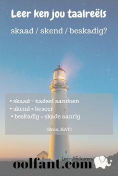 Skaad, skend of beskadig? | Afrikaanse taalreëls Career Quotes, Success Quotes, Wisdom Quotes, Quotes Quotes, Life Quotes, Afrikaans Language, Afrikaanse Quotes, Self Improvement Quotes, Teaching Aids