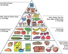 printable food pyramid for kids | You, me, we! Let's go green ...
