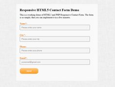 In this tutorial I will show you how to create a responsive html5 contact form for your website in just a few minutes. Having a Contact form is essential for any website, because this is the connection with your visitors and clients. The form is divided in two parts – the HTML5/CSS3 Responsive part and ...