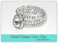 DIY Tutorial DIY Jewelry / DIY Beaded Memory Wire Ring - Bead&Cord
