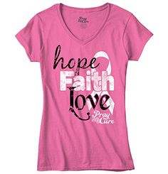Pray For A Cure Hope Faith & Love Breast Cancer Awareness Junior Fitted T-Shirt Classic Teaze http://www.amazon.com/dp/B011IYR8TC/ref=cm_sw_r_pi_dp_UsTcwb0KHG1VS