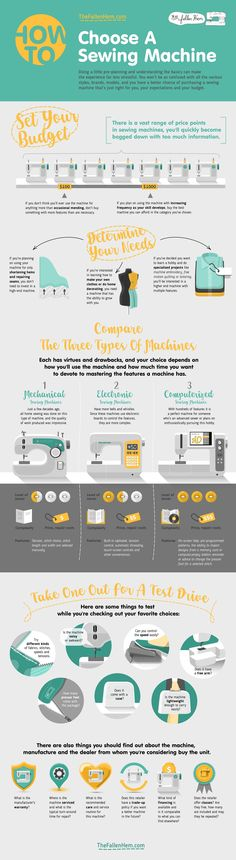 How to Choose a Sewing Machine #infographic #HowTo #Sewing #Machine