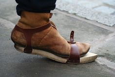 I was fascinated by the shoes worn by the pilgrims at the Minstrels Court. They came in two halves, a top leather shoe and a wooden base, or...