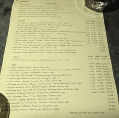10 Greek Street wine list