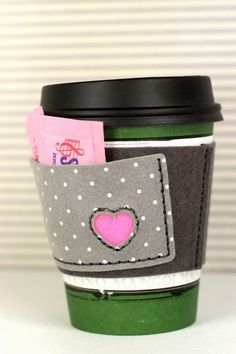 Pocket Coffee Cozy by Erin Lincoln for Papertrey Ink (March 2014)