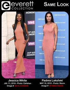Jessica White at arrivals for VH1 Hip Hop Honors: All Hail The Queens, David Geffen Hall at Lincoln Center, New York, NY July 11, 2016. Photo By: Kristin Callahan/Everett Collection *** Padma Lakshmi at arrivals for NBC Upfronts 2016 - Part 2, Radio City Music Hall, New York, NY May 16, 2016. Photo By: Derek Storm/Everett Collection