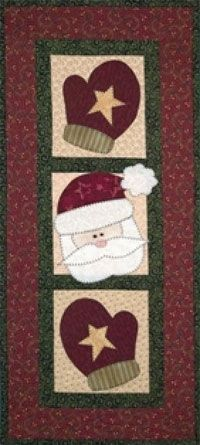 Santa and Mittens Quilt
