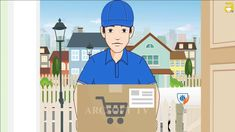 Commercial ad (Delivery Service) Animation