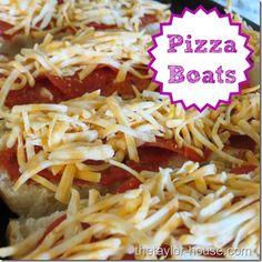 How to Make Pizza Boats #easyrecipes