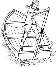You Can Slide Crayon Onto These Bossy Boat Printables Of Jet Skis Fishermen And Rowboats Print Out Unusual Coloring Pages Shrimp