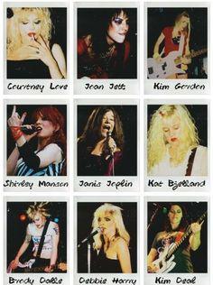 "fattyrolls: ""Women of Rock """