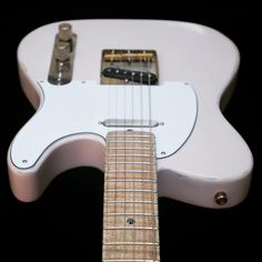 Lightly reliced Soderlund Guitars Tele in shell pink Guitars, Bass, Shells, Music Instruments, Pink, Conch Shells, Seashells, Musical Instruments, Sea Shells