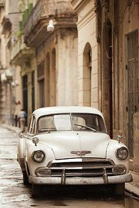 Cuban Car Photograph - Cuba, Havana, Havana Vieja, Morning by Walter Bibikow